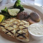 Great Talbot,<sp> Fish, grilled potato and perfect veggies.