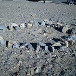 Mini Stonehenge at Stovepipe Wells Village