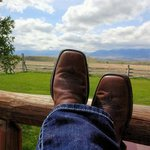 Relaxing on the back deck - just look at that view!