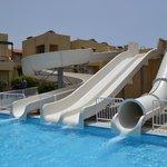 They call it the aqua park, its 3 slides