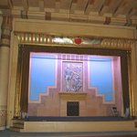 The stage in the Egyptian room