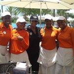 VIP Legendary pool staff:  Daniela C., Esmera, Kenia, Olga, Angela