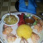 stuffed shrimp with crab, the cabbage side and plantains were amazing