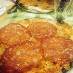 Pizza con il salame ��