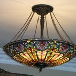 Parlor Tiffany style light fixture - Beautiful!