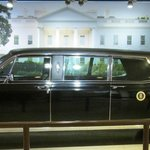 LBJ Limo at the library entance