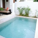 Plunge pool in the villa