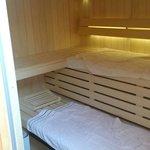 L'espace privatif SPA avec Sauna.
