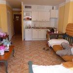 Front room/kitchen/girls bedroom