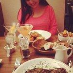 Maddie's steak looks bigger than my head!