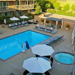 Pool area has been recently remodeled and updated.