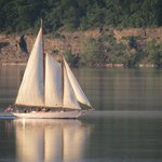 True Love Schooner Sailing at Sunset