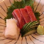 sashimi de thon et de barbue