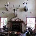 Main room in lodge (tusks are fiberglass)