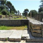 Temple of Hera in Olympia - a short 2-hour drive from Longos