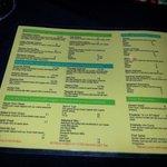 Dinner menu - June2014 (prices in USD)