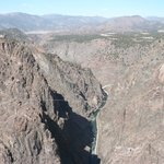 The Royal Gorge from the bridge. Over 1000 feet deep.
