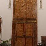Doors to guest room from breakfast room