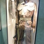 Inside the museum.  Uniform of a British soldier