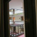 Window to interior hallway