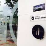 Design Hotels sign at the door
