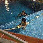 Safe swimming..pool