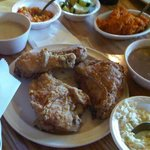 Chicken and a selection of sides