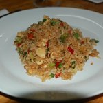 Yummy chicken fried rice.