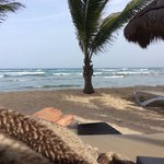 quiet time in the palapa on the beach