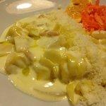 Fagottini in salsa di Pera,Pinoli (Pecorino Fagottini pasta stuffed with pecorino cheese and pea