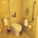 Wheelchair access room bathroom
