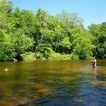 kayak   tubing   river Battenkill Arlington   VT Green Mountains  fly fishing Orvis Manchester r