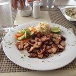 Very delicious octopus de ajo at el cid restaurant
