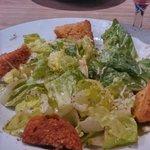 Cesar salad with garlic croutons