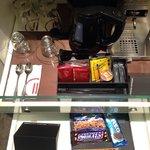 I love a minibar that has an espresso maker.