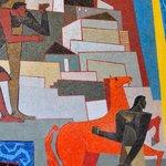 Parte de la obra de Guayasamin representando la lucha contra los españoles