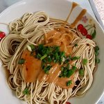 Noodles with peanut and sesame sauce