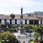 Plaza vista desde el palacio presidencial