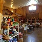 Inside farm store