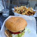 Stripburger garlic fries are amazing!