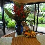 Wonderful floral arrangement in suite