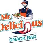 New Mr. Delicious Snack Bar Logo