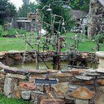 """""""Plumbers nightmare"""" titled fountain art. Really cool."""