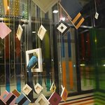"""Outdoor art installation (best viewed at night) """"The Glass Cube"""" Hello Polly... exhibit"""