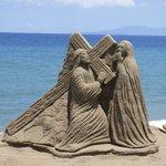 Sand Sculpture Along the Malecon, Puerto Vallarta