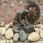 Washer Woman Statue Along the Malecon