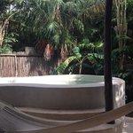 Plunge pool & hammock with good sun