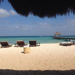 View from cabana on the beach