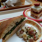 Turkey Sandwich with potato salad & Strawberry Shortcake