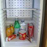 Refrigerator with stocked items